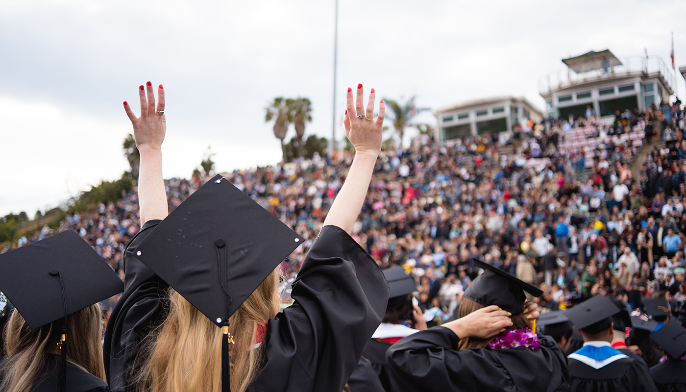 Santa Barbara City College's commencement ceremony.